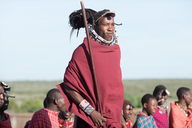 Masai Dance - the jump in red - Masai Mara, Kenya