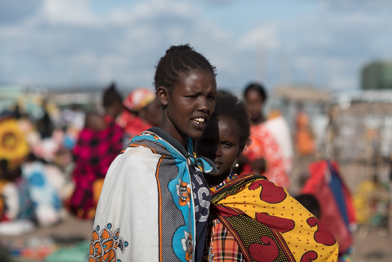 At Mcolaile - Masai Market, Kenya