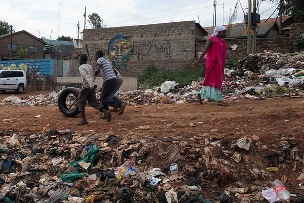 Street game - Kibera Nairobi, Kenya