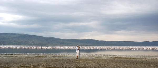 Yours truly at Lake Nukuru, Kenya 2005