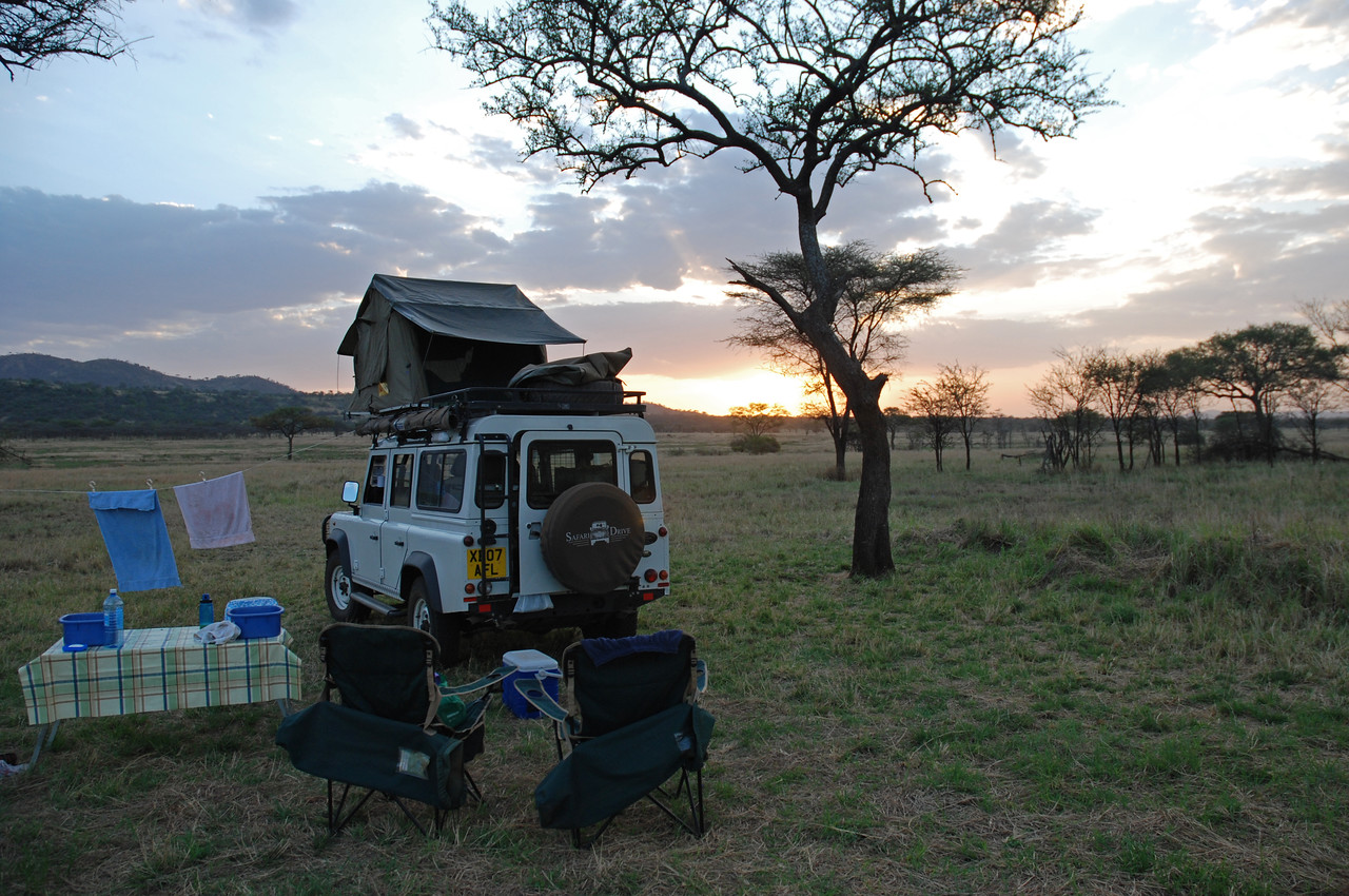 Lowlights!<br /> <br /> The lovely Mareo special campsite in the Western Corridor of the Serengeti a couple of hours before we were forced to leave →<br /> <br /> The poachers that forced us to flee from Mareo special campsite in the Western Corridor on our second night at that location - the only time we felt in any danger on this trip. It was an isolated incident in an otherwise perfect trip.<br /> <br /> The dust - we and our belongings have never been so filthy. <br /> <br /> The tsetse flies - the initial bite is painful and then they itch terribly, drain, and finally bleed before healing - my ankles will never be the same. I had to take an anti-histamine at night so that I could sleep through the itchiness. The tsetses may have been somewhat attracted to blue clothing, but they seemed to pursue us no matter what colours we were wearing. They definitely targeted the ankles - thick socks are good!<br /> <br /> The honeybees at the Mareo (Western Corridor in the Serengeti) and Mbweha (Tarangire NP) special campsites that made showering rather hazardous - any water attracted a swarm of bees. We learned to shower just before sunset, when the honeybees would retire for the night.