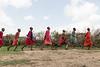 Dancing Maasai warriors