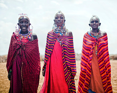 Masai women at the village we visited in Amboseli