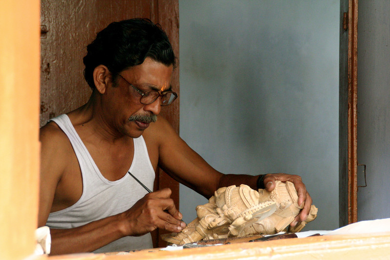 Temple carver