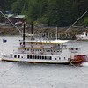 Paddle wheel powered tour boat in Ketchikan, Alaska.