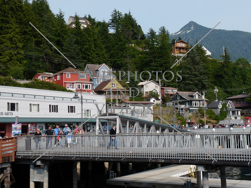 A view at the Port of Ketchikan, Alaska.