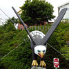 The eagle totem in Ketchikan, Alaska.