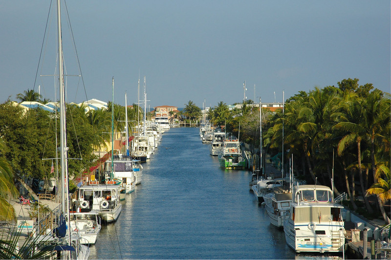Canal outside my room on Key Largo