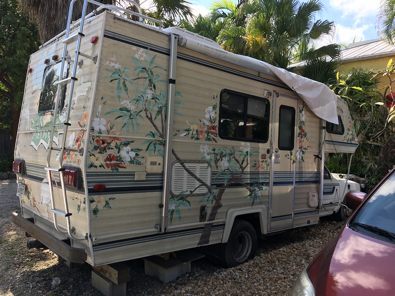 Key West art RV appears to be injured. Hoping it's only a flesh wound.