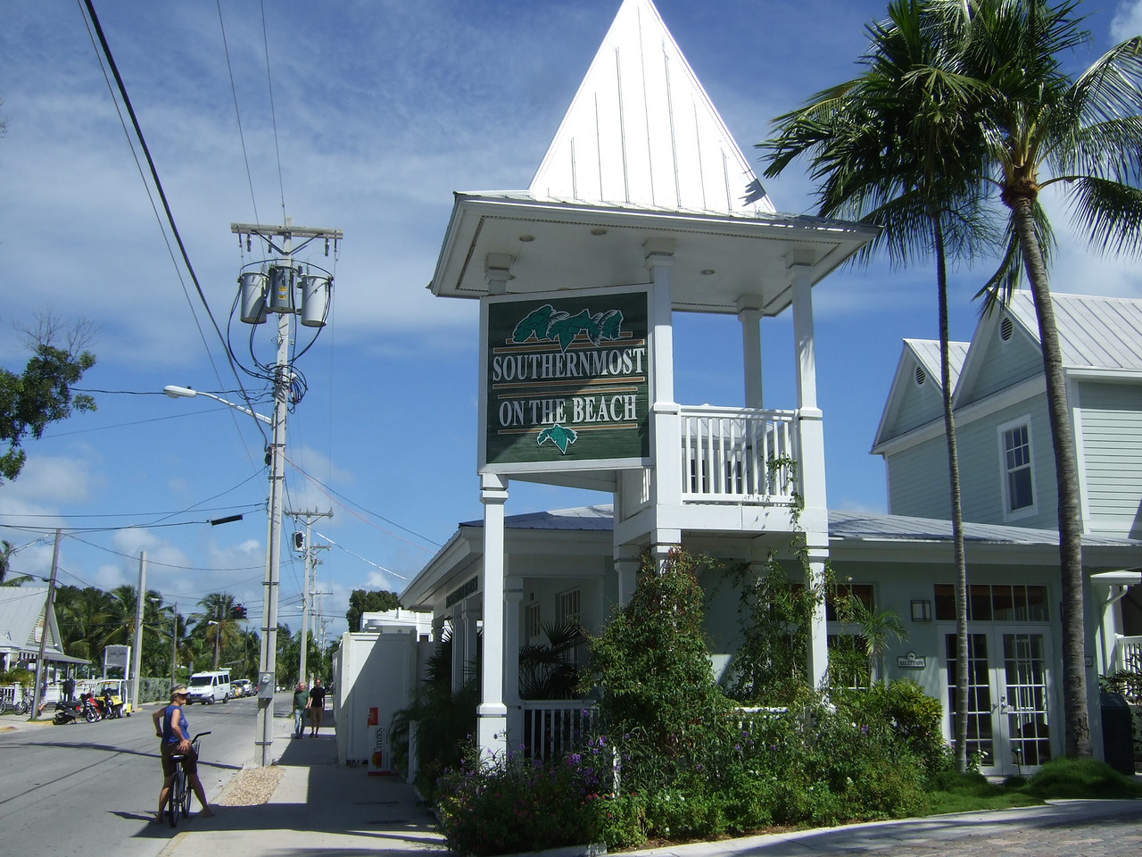 This building is not the southernmost, but it's the southernmost on the beach.