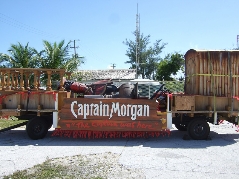 And then there's the Captain Morgan Rum float, with the captain apparently passed out flat on his face.