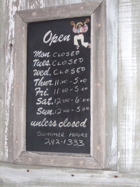 """Notice the hours they're open end with """"unless closed."""""""