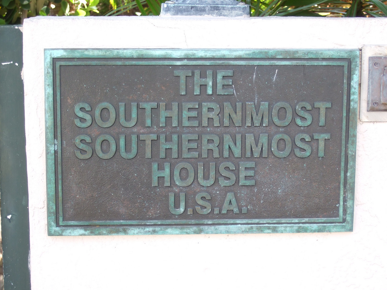 Key West claims to have the southernmost piece of land in the US, a fact used for advertising a great many businesses, including the southernmost southernmost house.