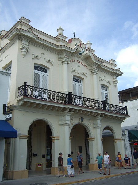 """The San Carlos building was built (a few times because hurricanes kept knocking it down) as a gathering place for Cuban emigres. The current building is beautiful. It is said that José Martí gave speeches from the balcony and that Enrico Caruso performed at earlier buildings housing the San Carlos Institute. See a brief history of the Institute at <a href=""""http://www.cubanfest.com/sancarlos.htm"""">http://www.cubanfest.com/sancarlos.htm</a>"""