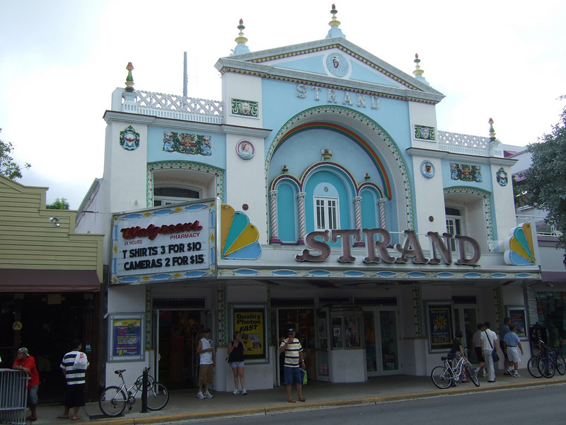 """It's glory years as a movie palace are over, and the Strand is now a Walgreen's Pharmacy, open 24/7. There's a great photo at <a href=""""http://www.leatheregg.com/gallery/main.php?g2_itemId=356"""">http://www.leatheregg.com/gallery/main.php?g2_itemId=356</a> and several derogatory comments about how low the building has fallen at <a href=""""http://cinematreasures.org/theater/2576/"""">http://cinematreasures.org/theater/2576/</a> - along with how commercial Key West has become since the 50s. Ah, yes - the good old days."""