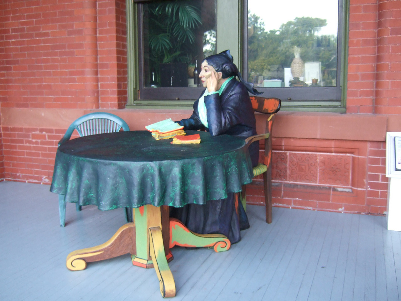 One of the life-sized sculptures by Seward Johnson.