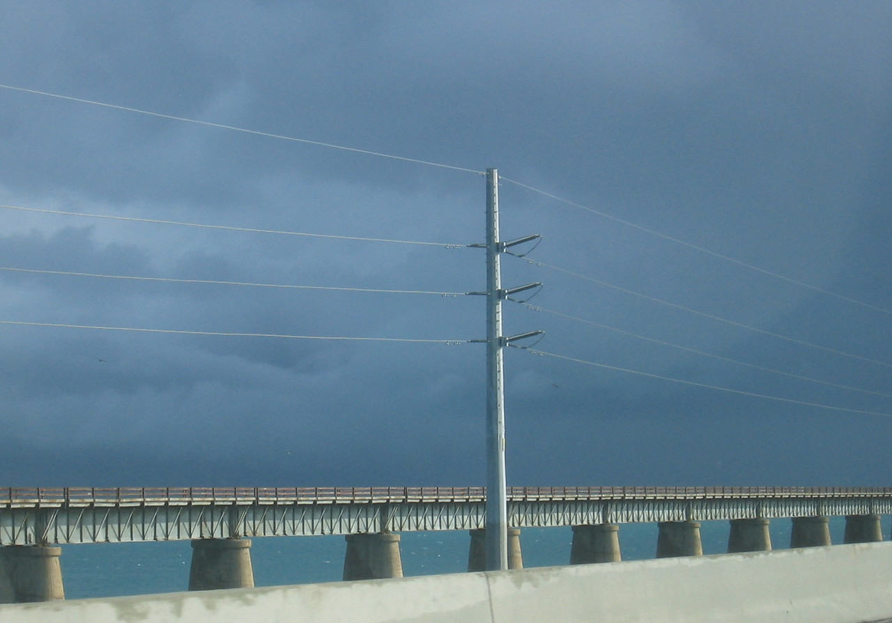 Truly dark clouds - storms in Florida are spectacular.