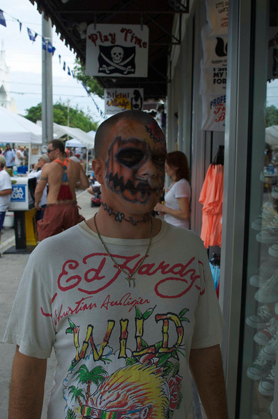 Ed Hardy zombie.