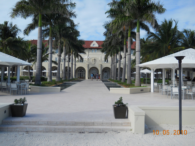 Ocean front of Casa Marina, our Key West hotel.