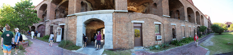 Panorama of the sally port from inside