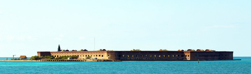 Two hours later we reach Fort Jefferson in the Tortugas.
