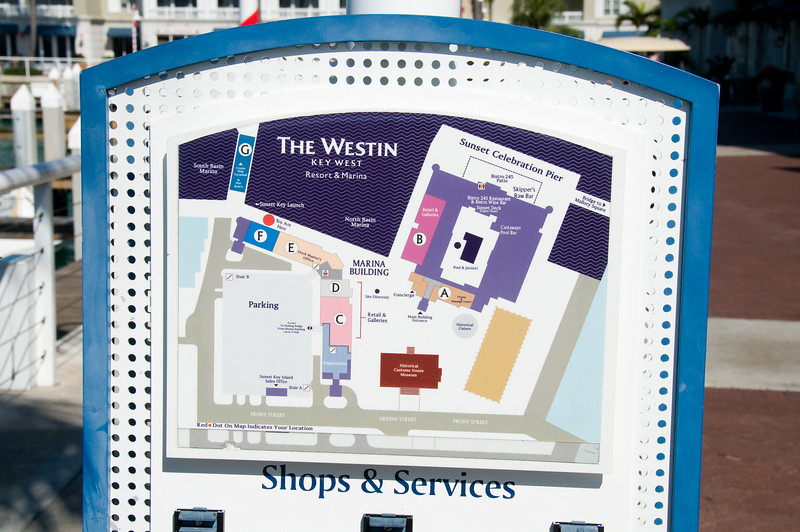 Map of the Westin Key West Resort and Marina