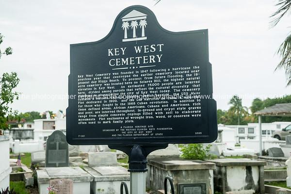 Key West Cemetery interpretive sign.