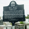 Key West Cemetery interpretive sign.