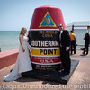 The bride and groom at the Southernmost Point.