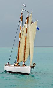 Arriving sailboat in Key West Harbor