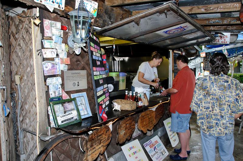 Kitchen at B.O.'s Fish Wagon