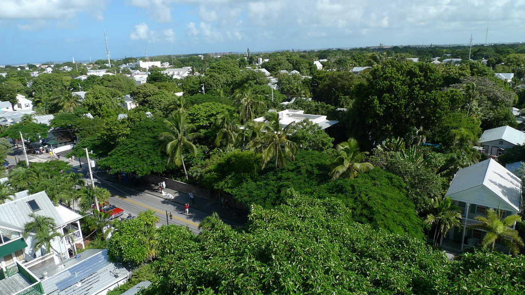 Key West from the lighthouse. That's the Hemingway house across the street from the inn.