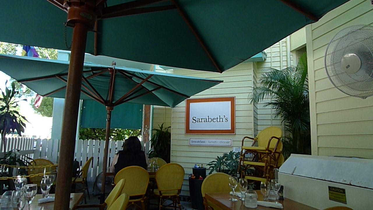 Sarabeth's is an excellent restaurant in Key West Florida. We've had both brunch and lunch there and recommend it.