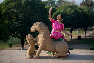 Rita Mustaphi at Khajuraho Temples.  Rita Mitra Mustaphi, Katha Dance Theater, USA. While adept in the classical Kathak vocabulary it is infused with contemporary sensibility acquired from interest in expression, rhythm works and movement idioms. Khajuraho Dance Festival, Feb 2017. Colorful and brilliant classical dance forms of India with roots in the rich cultural traditions offer a feast for the eyes during a weeklong extravaganza. Khajuraho Temples in Madhya Pradesh are popular for their architectural wonders and sculptures.