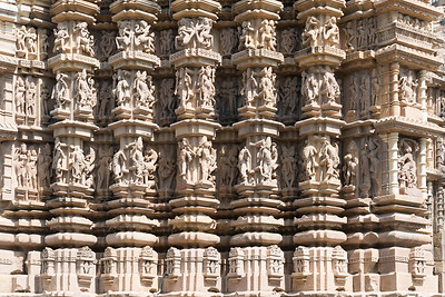 """The Khajuraho Duladeo Temple is a Hindu temple in Khajuraho, Madhya Pradesh, India. The temple is dedicated to the god Shiva in the form of a linga, which is deified in the sanctum. 'Dulodeo' means """"Holy Bridegroom"""". The temple is also known as """"Kunwar Math"""". It  is part of the Southern group of the Khajuraho group of temples."""