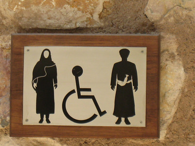 Sign for the ladies/gents loos