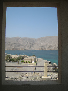 Taken from the balcony at the Golden Tulip, Khasab