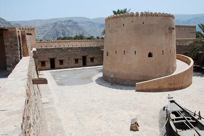 Internal courtyard at Khasab Castle.