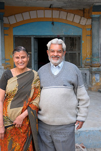 Vijay mama and Shobha mami at their home in Khurja, UP, North India.