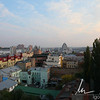 View of Kiev from the apartment we were staying at, you can see the new footbal [soccer] stadium in the upper left.