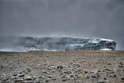 Day 7. Uhuru peak (5895m). Residing glacier. Still about 30m high.