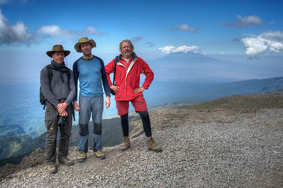 Day 5. Lemosho route on the way to Karanga camp (3995m). On top of the Baranco Wall (4200m).