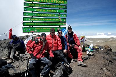 Day 7. Uhuru peak (5895m). The SALO men, Hugo, Fons, Casper and Ralph all made it!
