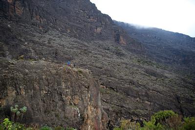 Day 4. Baranco camp (3976m). Lemosho route. On the background the Baranco Wall.