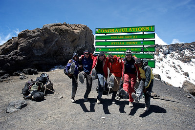 Day 7. Lemosho route on the way to Uhuru peak (5895m). Here we reached Stella Point (5739m) on the edge of the crater.