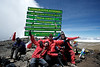 Day 7. Uhuru peak (5895m). The SALO men, Hugo, Fons, Casper and Ralph all made it!