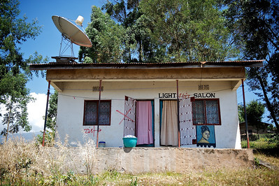 Hair salon, Tanzania.