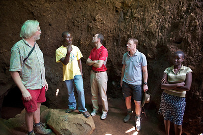 Visiting underground caves, Marangu village. Moshi district, Tanzania.