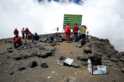 Day 7. Uhuru peak (5895m). Enjoying our time on the top of Africa.