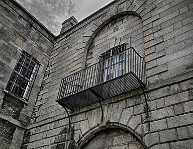 The prison courtyard.